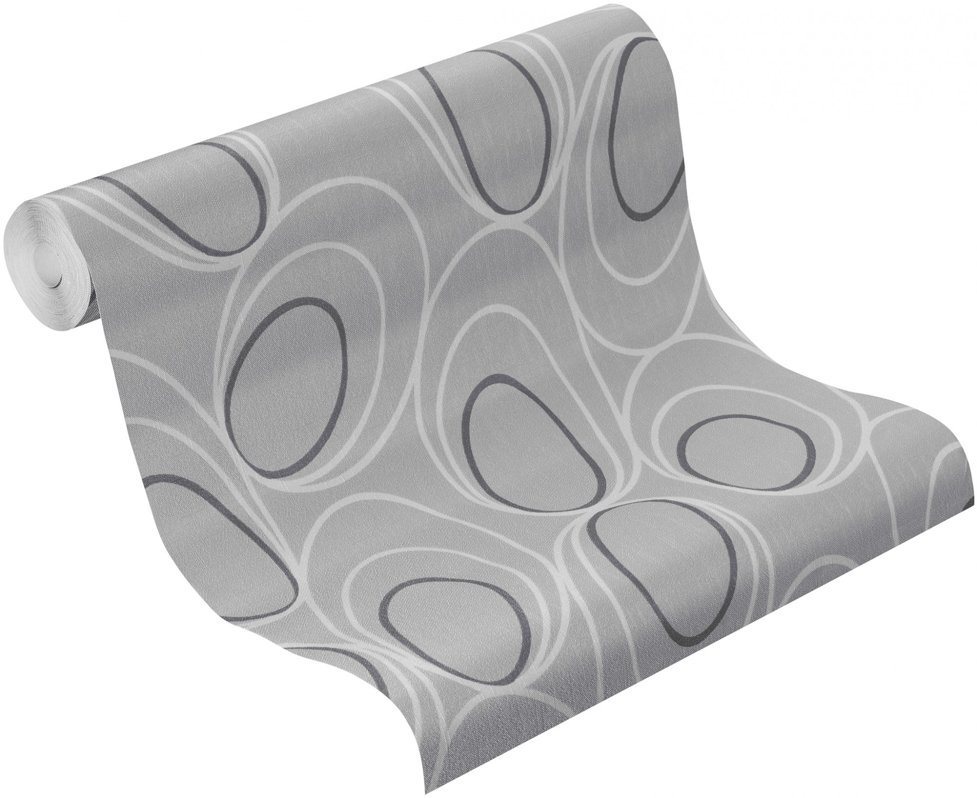 Barbara Becker Tapeten Deco Chic : Rasch Tapete Deco Chic Vliestapete 728415 Design modern silber grau