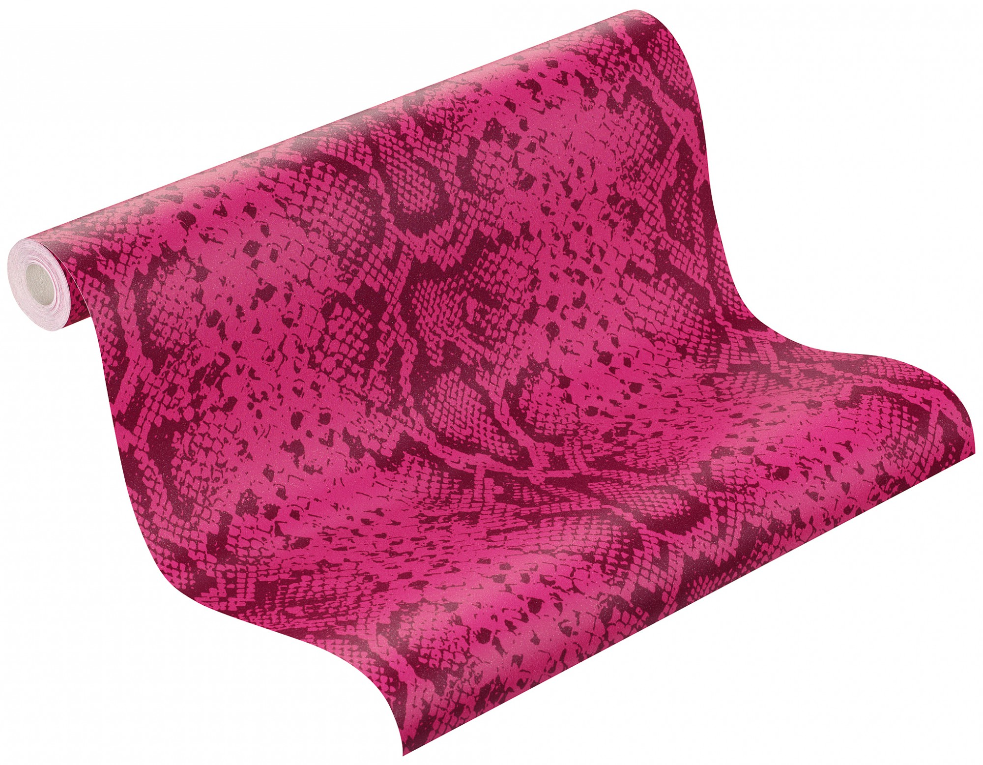 Glitzer Tapete Barbara Becker : Tapete Rasch Schlangenhaut-Optik Tapete 281002 pink lila glitzer