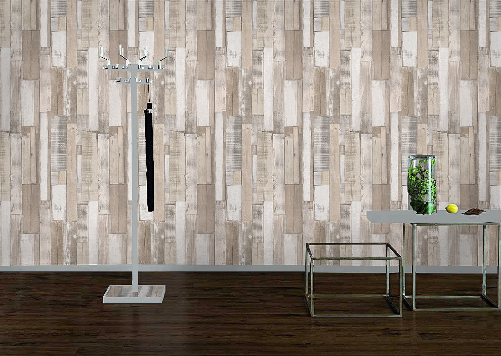 rasch kids teens 203714 papier tapete holz bretter holztapete grau beige creme ebay. Black Bedroom Furniture Sets. Home Design Ideas