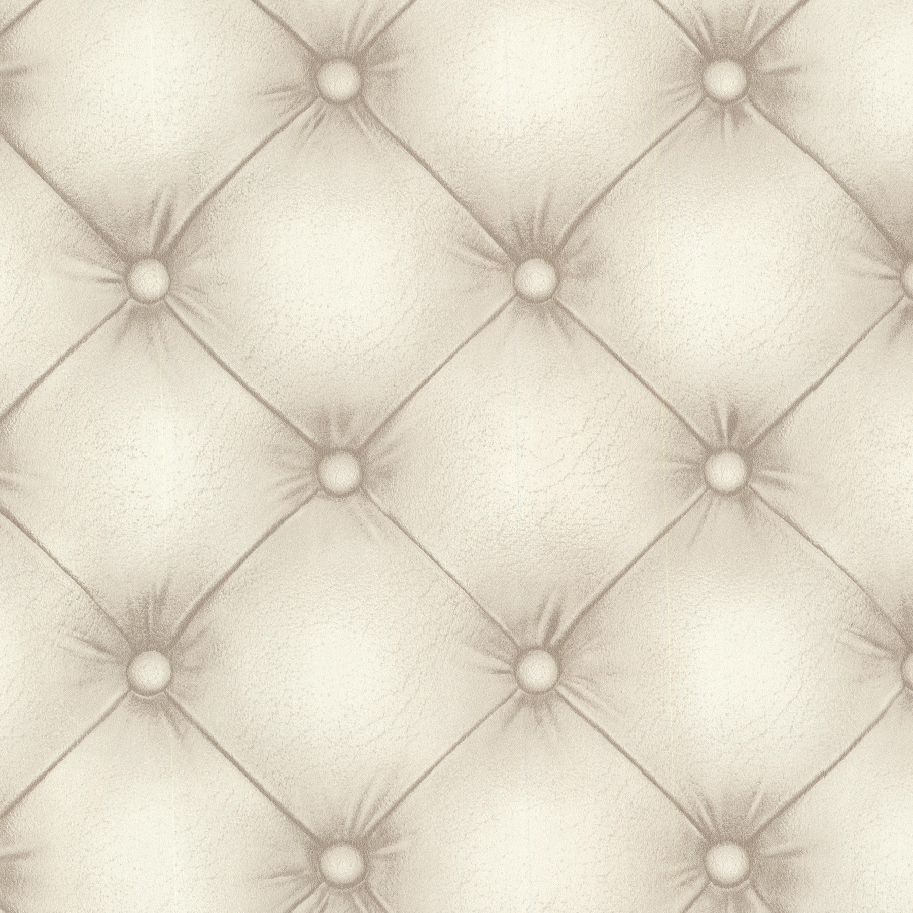 Tapete  Steppmuster  creme  beige  Vliestapeten  R - Knopen Behang