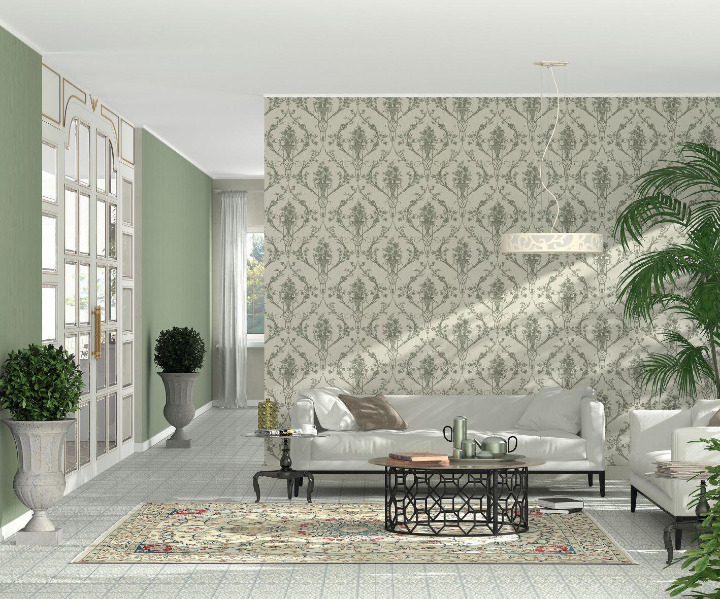 vliestapete eleganza tapete erismann ranken streifen grau. Black Bedroom Furniture Sets. Home Design Ideas