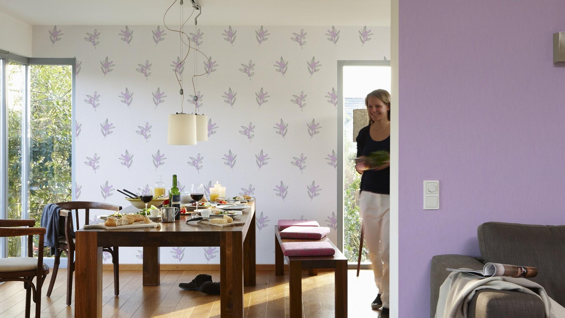 Schlafzimmer weiß lila