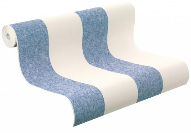 Tapeten Gestreift Holzoptik : Rasch Tapete Florentine Gestreift blau creme 448719 online kaufen