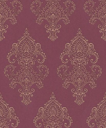 Retro Tapeten Dunkelgr?n : Tapete Vlies Barock rot gold Rasch Textil Amira 225845 online kaufen