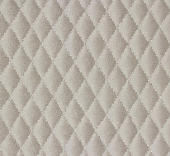 Scandinavian Vintage Tapete Marburg : Cream Quilted Leather Wallpaper
