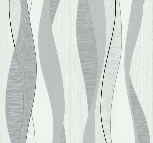 Tapete Weiss Grau Gestreift : Tapete Vlies Streifen grau wei? PS 13311-10 online kaufen