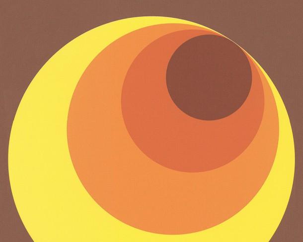 Retro Tapete Orange Braun : Tapete AS Kreise BRAUN ROT ORANGE 7013-12 Retro 70er Jahre Tapete