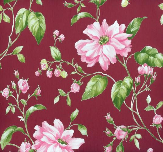 Marburg Tapeten Muster Kostenlos : MUSTER Vliestapete Marburg Astoria Tapete 53741 Blumen bordeauxrot
