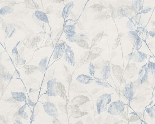 Neue Kollektion Esprit Tapeten : ESPRIT HOME 8 Vliestapete 9389-23 938923 Tapete Vintage Bl?tter grau