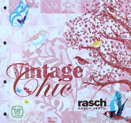 Barbara Becker Tapete Schmetterling : Tapete Rasch Textil Tapete Landhaus 321585 Schmetterling rosa pink