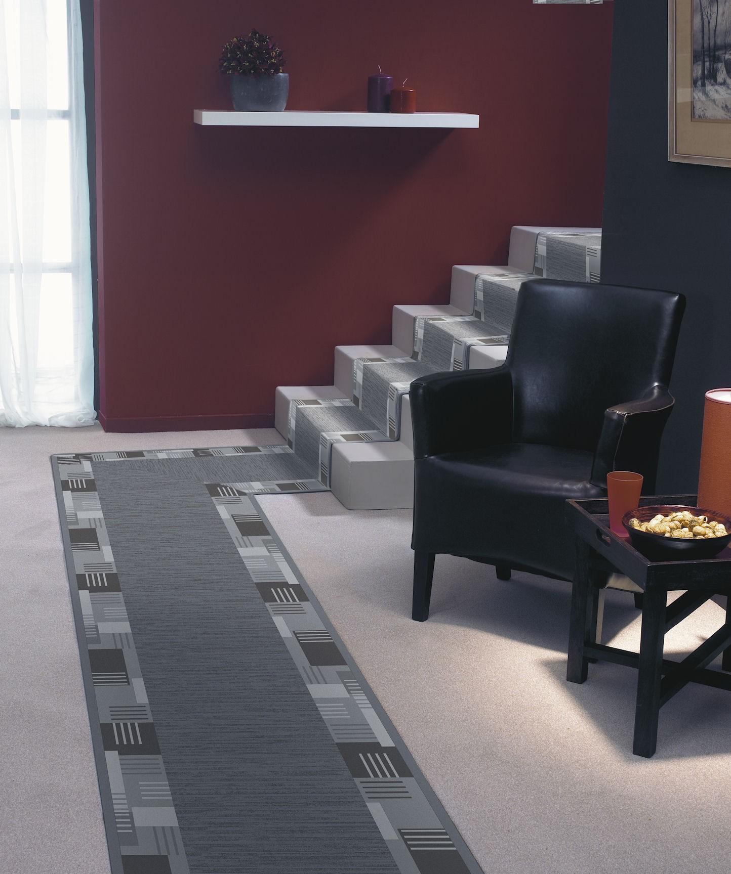 teppich l ufer montana br cke l ufer grau 67 cm breite. Black Bedroom Furniture Sets. Home Design Ideas