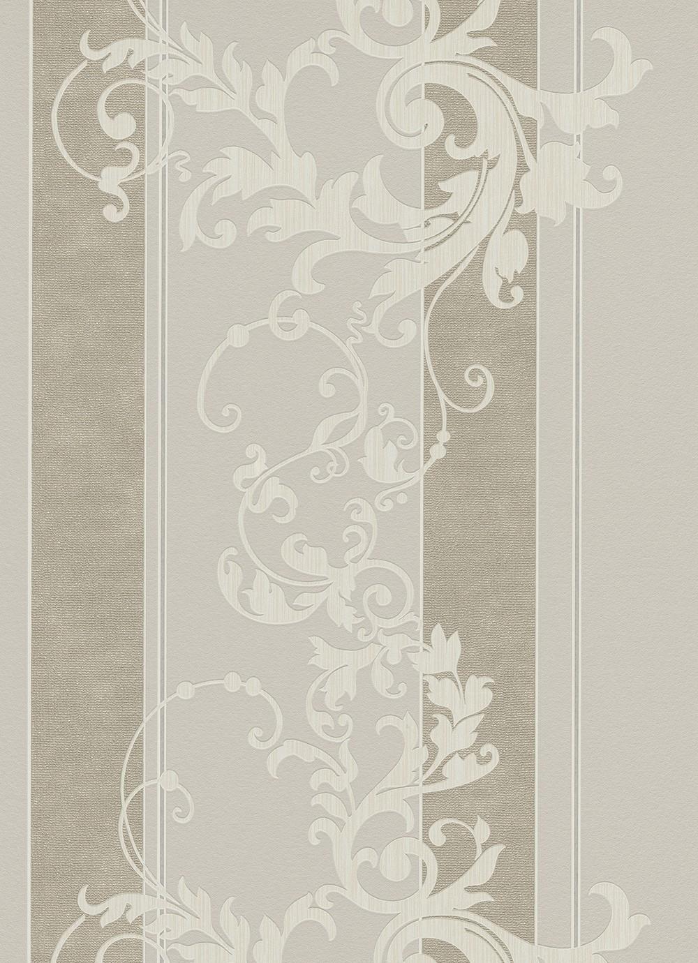 tapete wohnzimmer beige: Tapete Myself Vliestapete 6858-38 685838 Streifen Barock beige creme