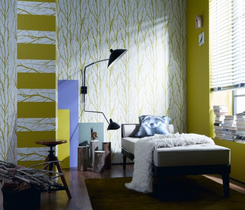 tapete sch ner wohnen 4 vliestapete 2683 27 268327 wei gr n ebay. Black Bedroom Furniture Sets. Home Design Ideas