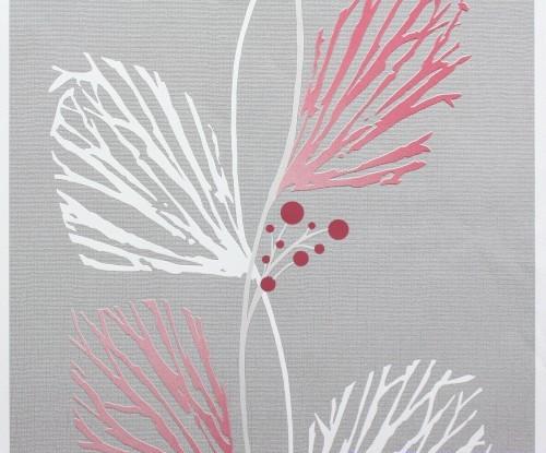 Violette Wellenmuster mit Grafit Gekritzel, Detailansicht