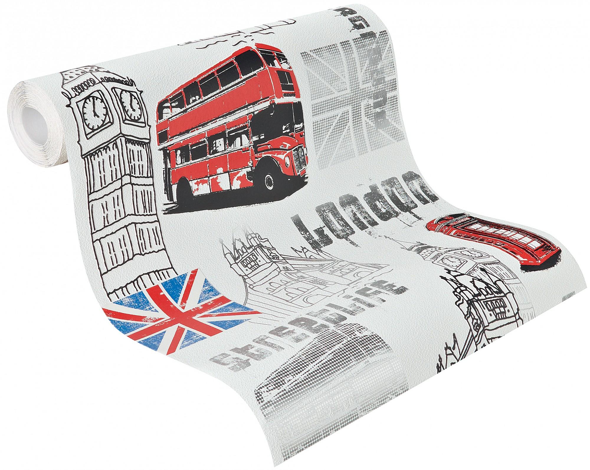 tapete rasch kinder jugend vliestapete 781908 london wei kids 39 club 2014. Black Bedroom Furniture Sets. Home Design Ideas