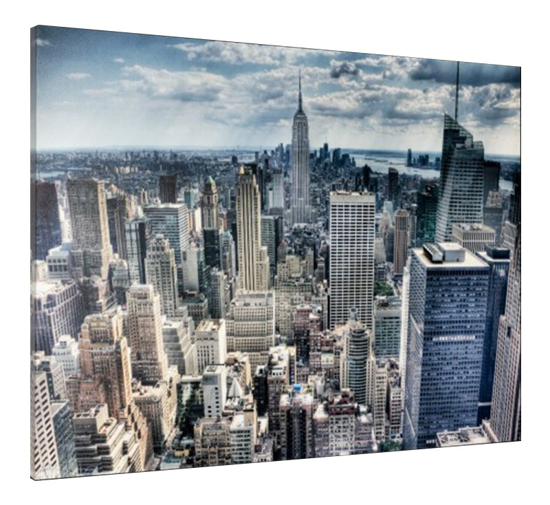 leinwand bild keilrahmen bild new york skyline 3d empire state 60x80 cm ebay. Black Bedroom Furniture Sets. Home Design Ideas