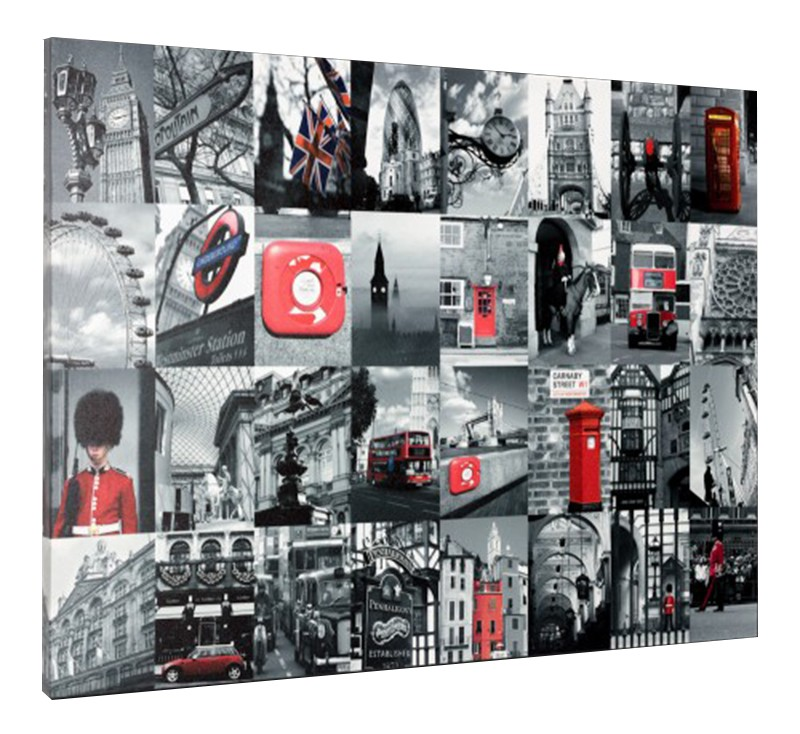 leinwand bild keilrahmen bild london big ben roter bus england underground 60x80 ebay. Black Bedroom Furniture Sets. Home Design Ideas