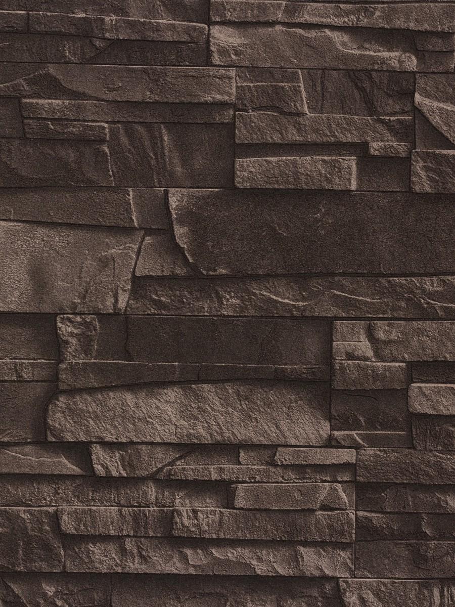 tapete rasch vliestapete 438321 steinoptik braun factory 2014 3 19 1qm ebay. Black Bedroom Furniture Sets. Home Design Ideas