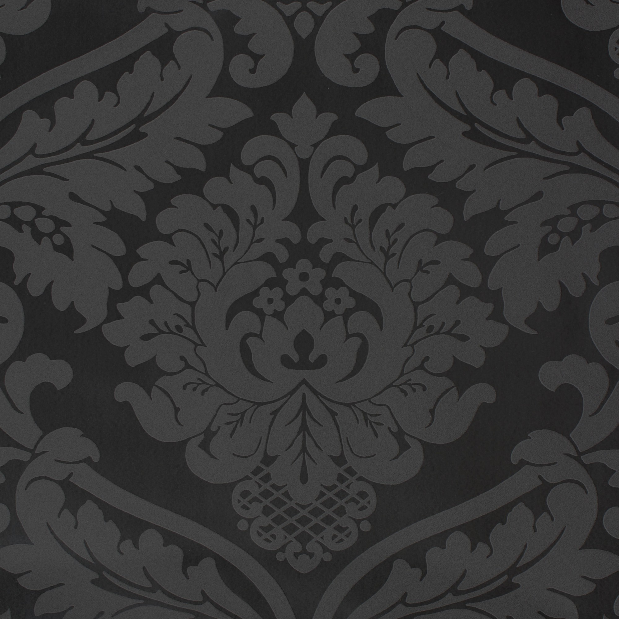 Retro barock tapete black white 5526 31 schwarz for Retro tapete