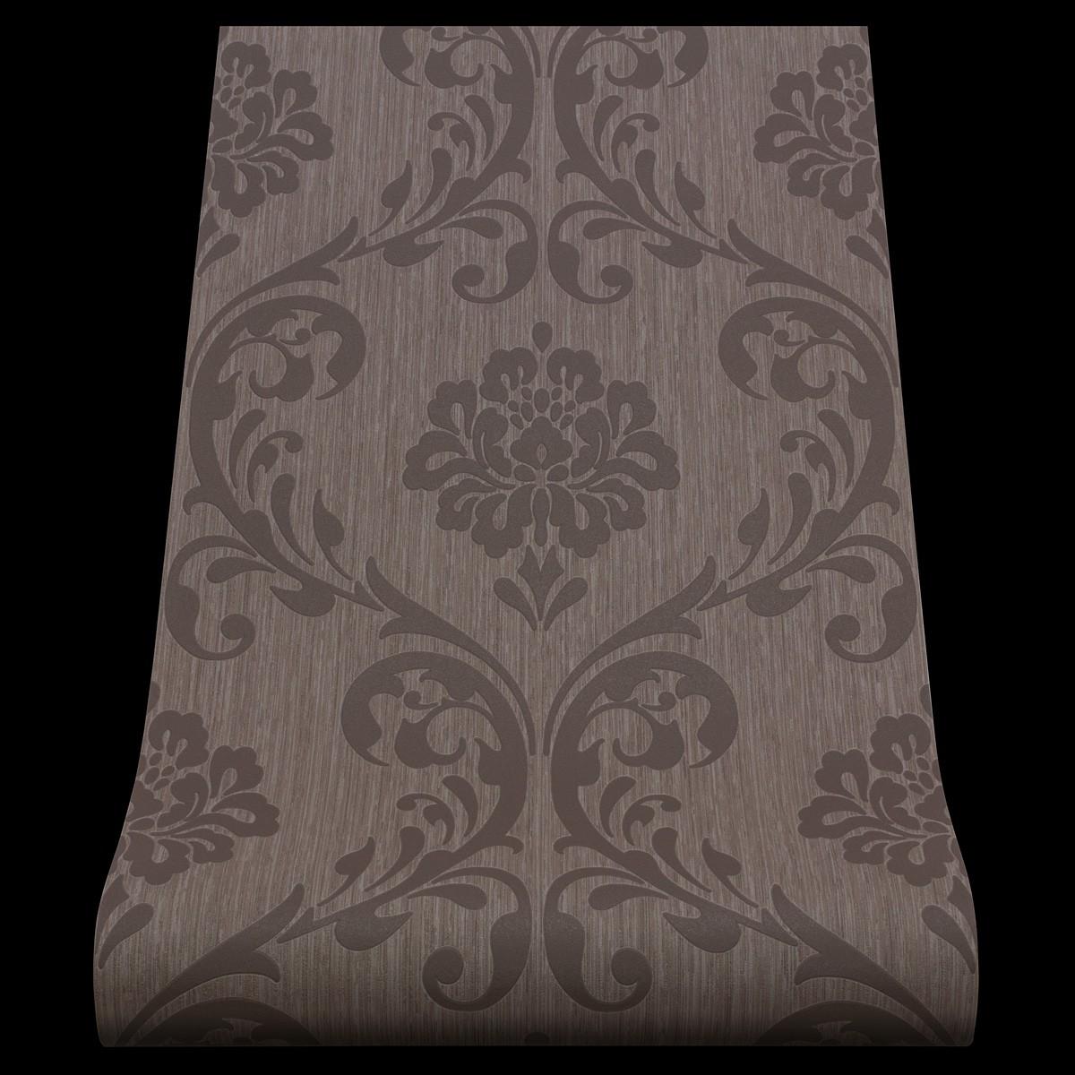 13110 40 1 rolle vlies tapete ornament barock design braun. Black Bedroom Furniture Sets. Home Design Ideas