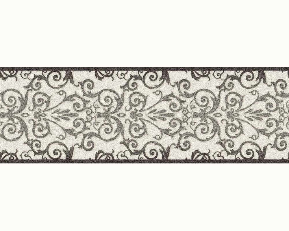 versace home tapeten borte bord re 93547 2 935472 barock struktur wei anthrazit. Black Bedroom Furniture Sets. Home Design Ideas