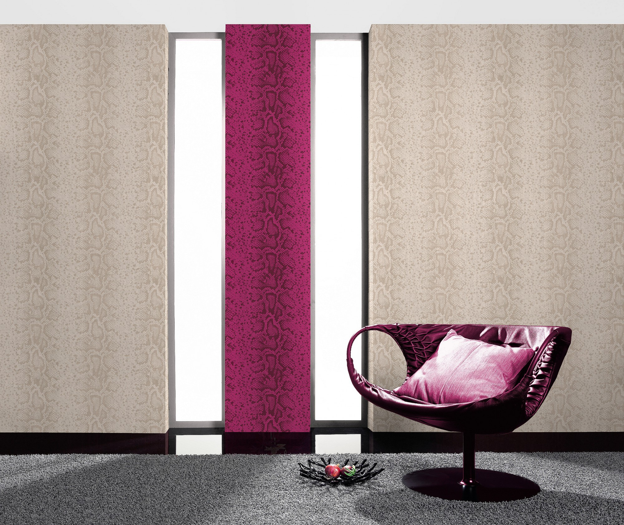 bestseller tapete rasch schlangenhaut optik tapete 281019 creme beige glitzer. Black Bedroom Furniture Sets. Home Design Ideas