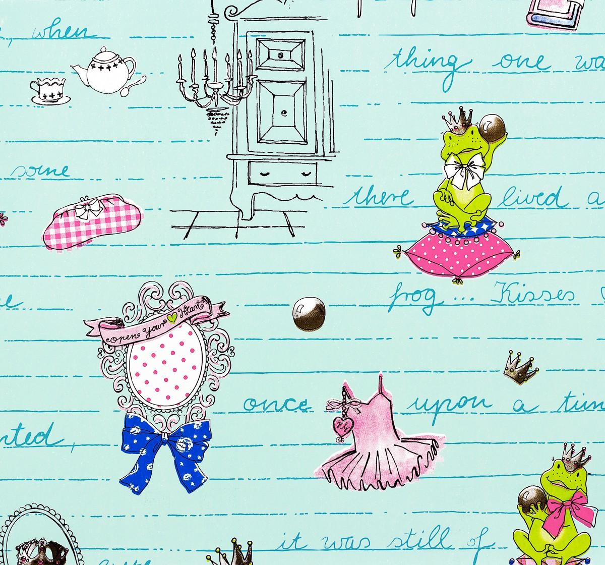 childrens paradise kindertapete vlies gl ckler 54126. Black Bedroom Furniture Sets. Home Design Ideas