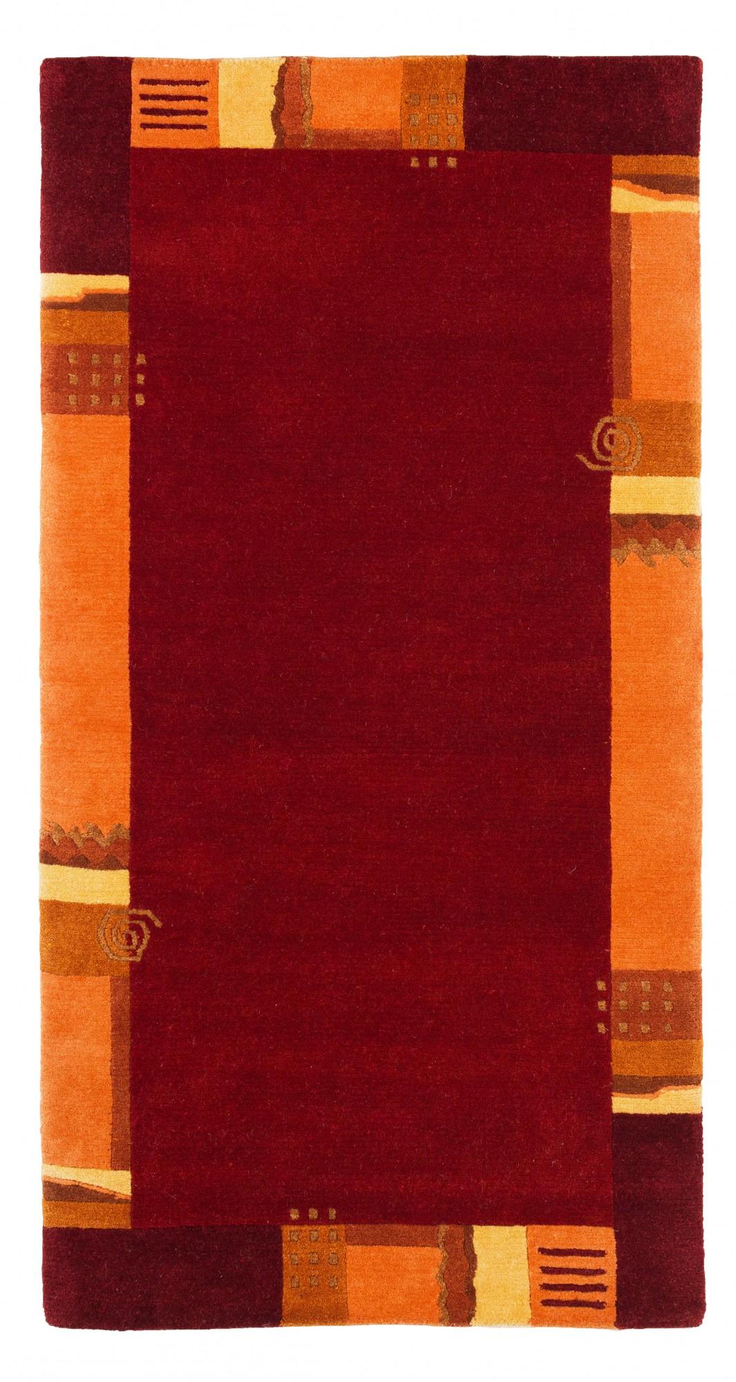 handgekn pfter original tibet nepal teppich shangrila 705 73x74 cm rot ebay. Black Bedroom Furniture Sets. Home Design Ideas