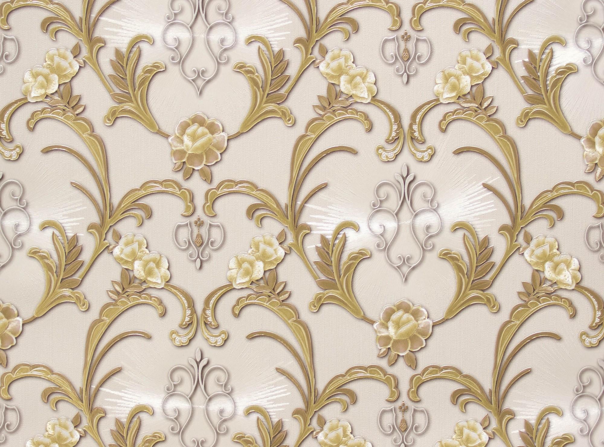 tapete hermitage ornament creme gold metallic 94338 3. Black Bedroom Furniture Sets. Home Design Ideas
