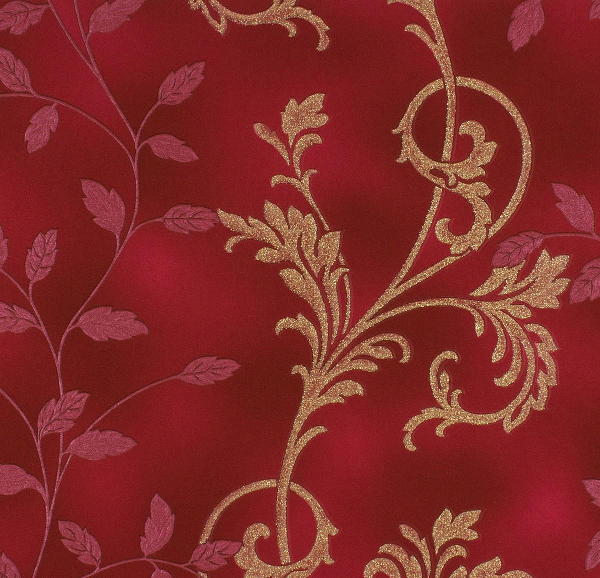 rasch diamond dust vliestapete 450545 floral rot rosarot gold glitzer 3 85 1qm ebay. Black Bedroom Furniture Sets. Home Design Ideas