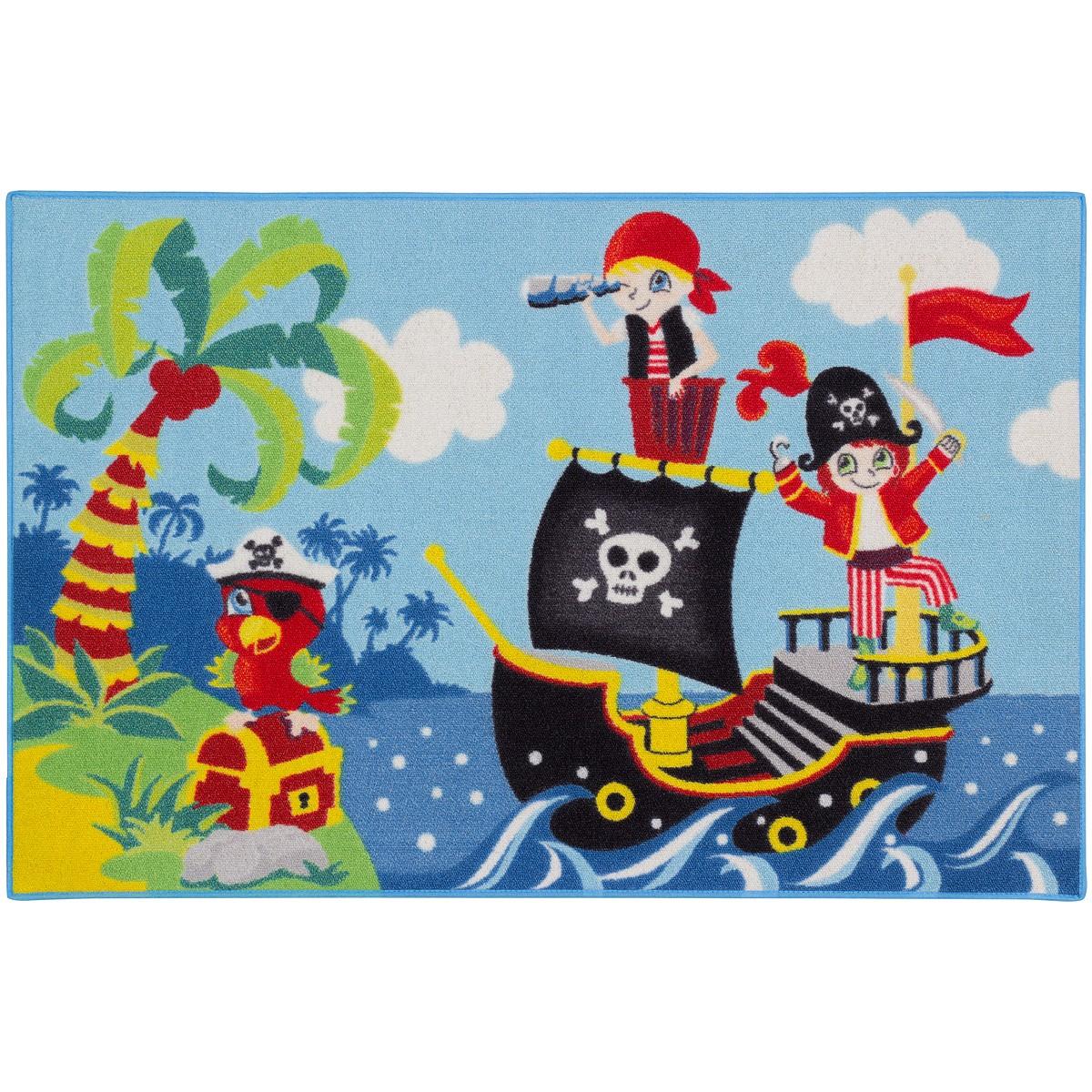 teppich kinderteppich piraten piratenschiff spielteppich. Black Bedroom Furniture Sets. Home Design Ideas