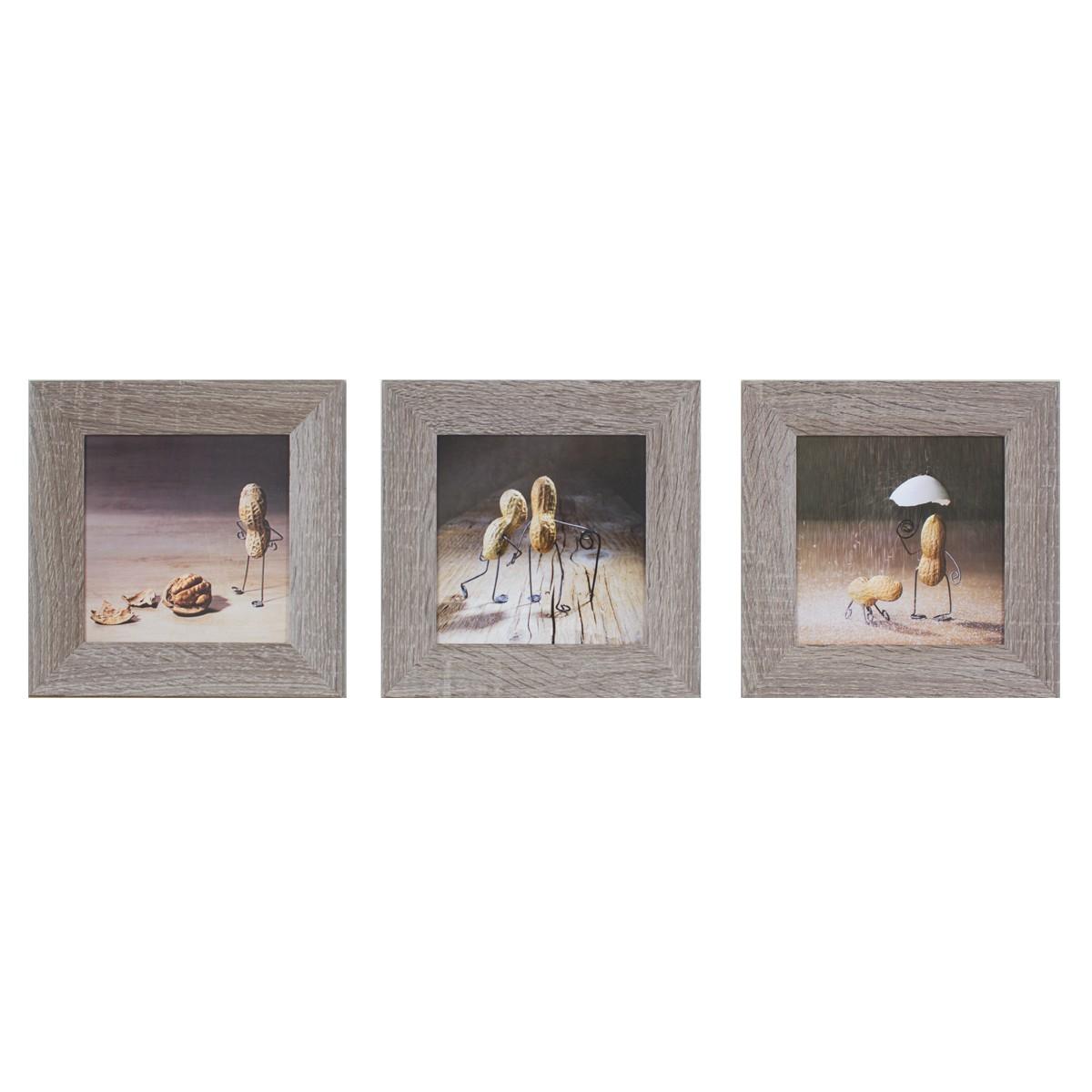 wandbild 3er set kunstdruck je 23x23 cm erdn sse figuren. Black Bedroom Furniture Sets. Home Design Ideas