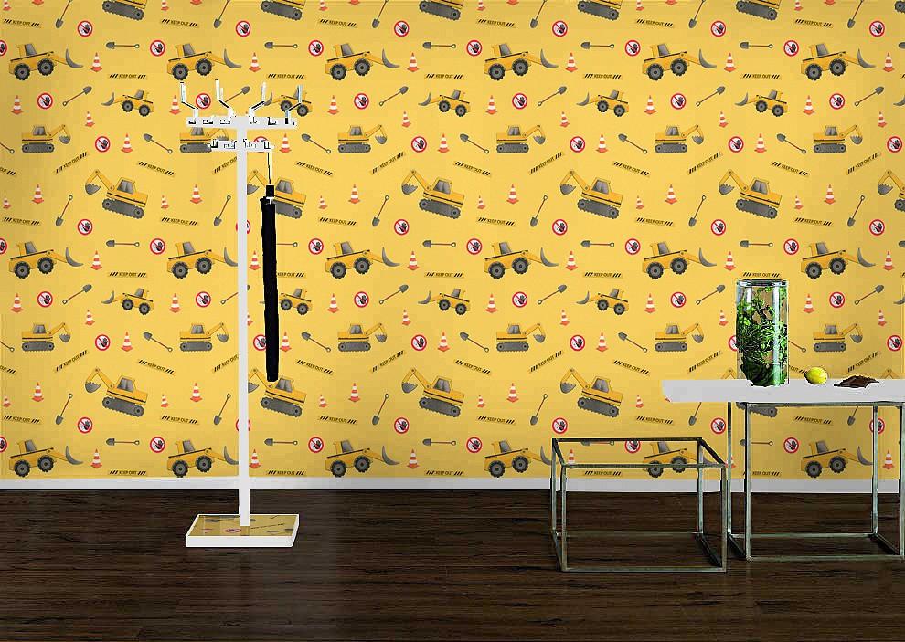 Rasch Kindertapeten Vlies : Vliestapete Rasch 465402 Kids&Teens Tapete Bagger Baustelle gelb grau