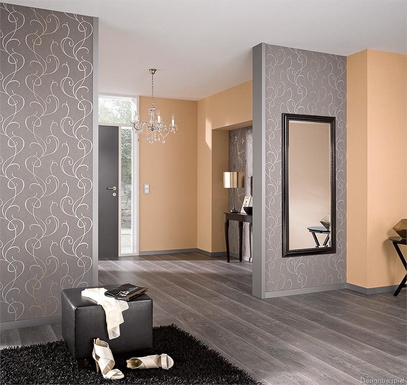 wohnzimmer tapete braun. Black Bedroom Furniture Sets. Home Design Ideas