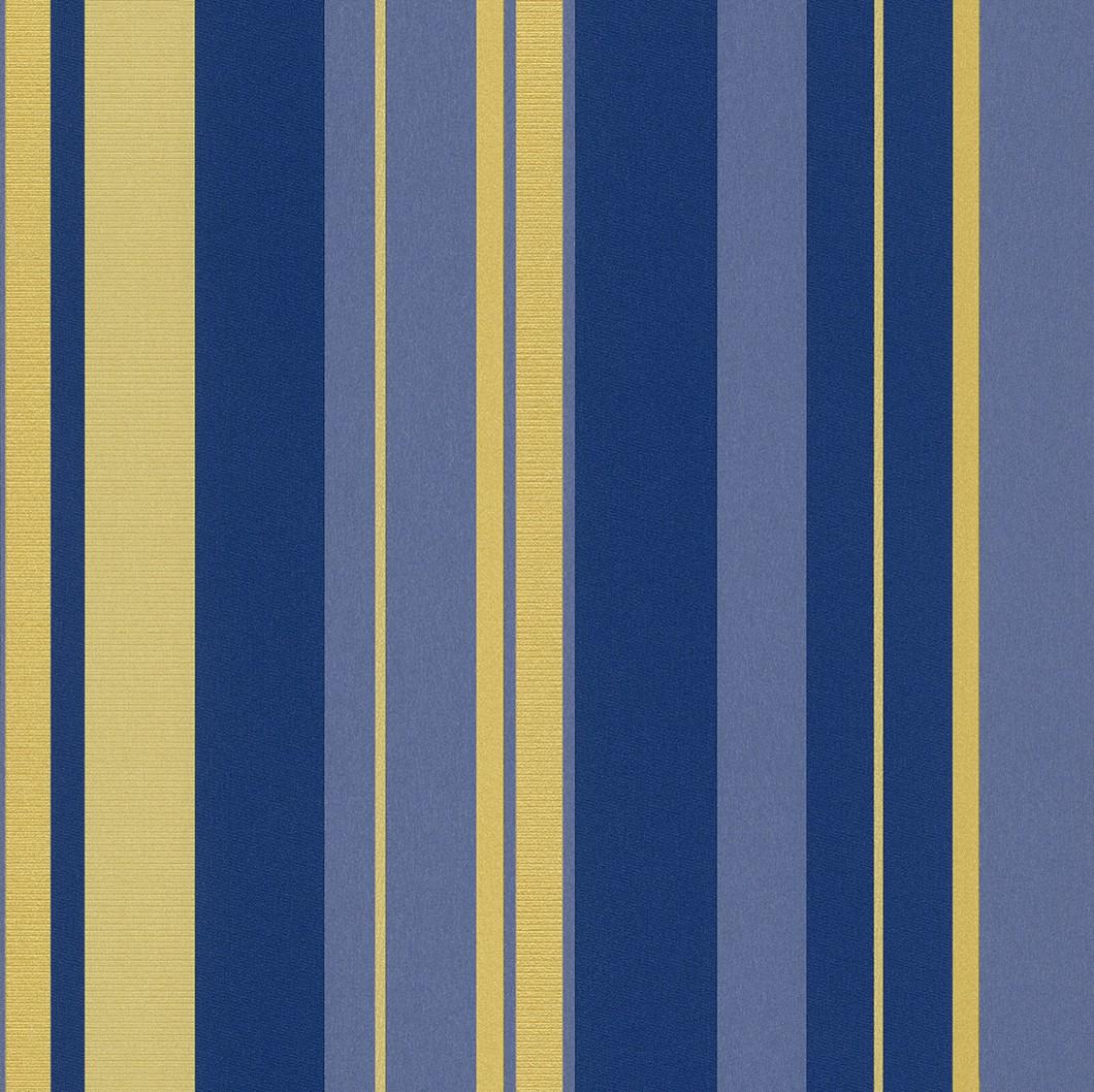 Vliestapete Streifen gelb blau Tapete Rasch En Suite 546521