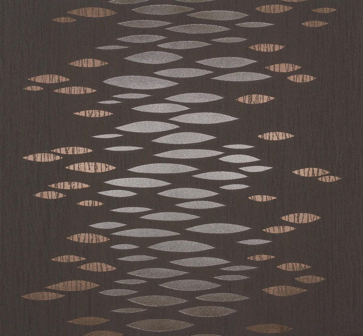 vliestapete design modern grau bronze metallic tapete marburg estelle 55727. Black Bedroom Furniture Sets. Home Design Ideas