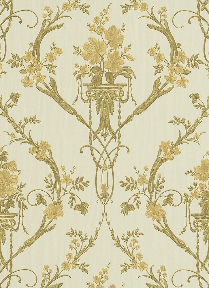 vliestapete eleganza tapete erismann ranken streifen beige. Black Bedroom Furniture Sets. Home Design Ideas