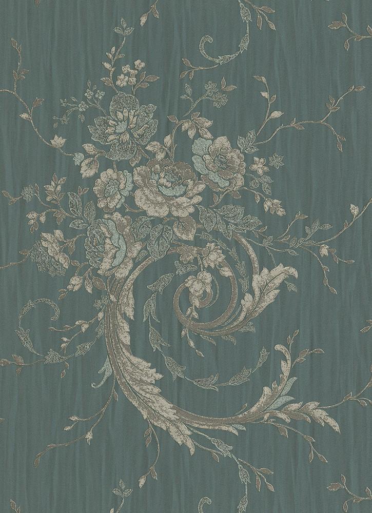 vliestapete eleganza tapete erismann ranken streifen gr n. Black Bedroom Furniture Sets. Home Design Ideas
