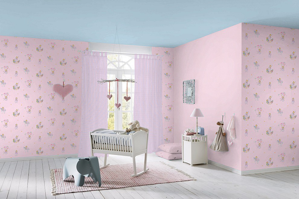 Kinderzimmer Tapeten Prinzessin : Tapete Prinzessin Lillifee Tiere rosa bunt Kindertapete Rasch 298802