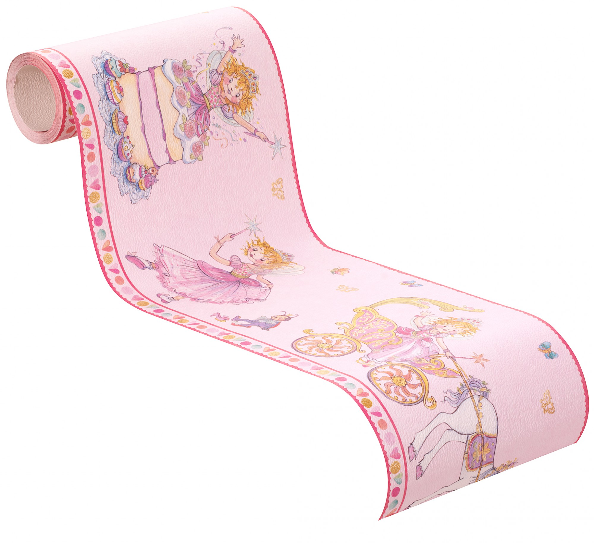 tapete borte prinzessin lillifee einhorn rosa bunt kindertapete rasch 298901 10 ebay. Black Bedroom Furniture Sets. Home Design Ideas