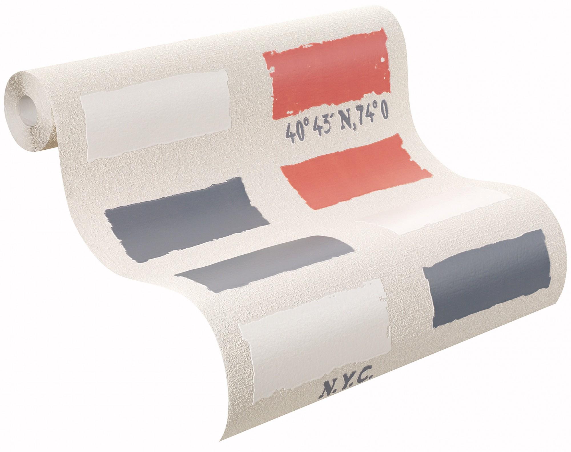 vliestapete beige rot wei grau muster rasch home vision 4 eastcoast tapete 4269 ebay. Black Bedroom Furniture Sets. Home Design Ideas