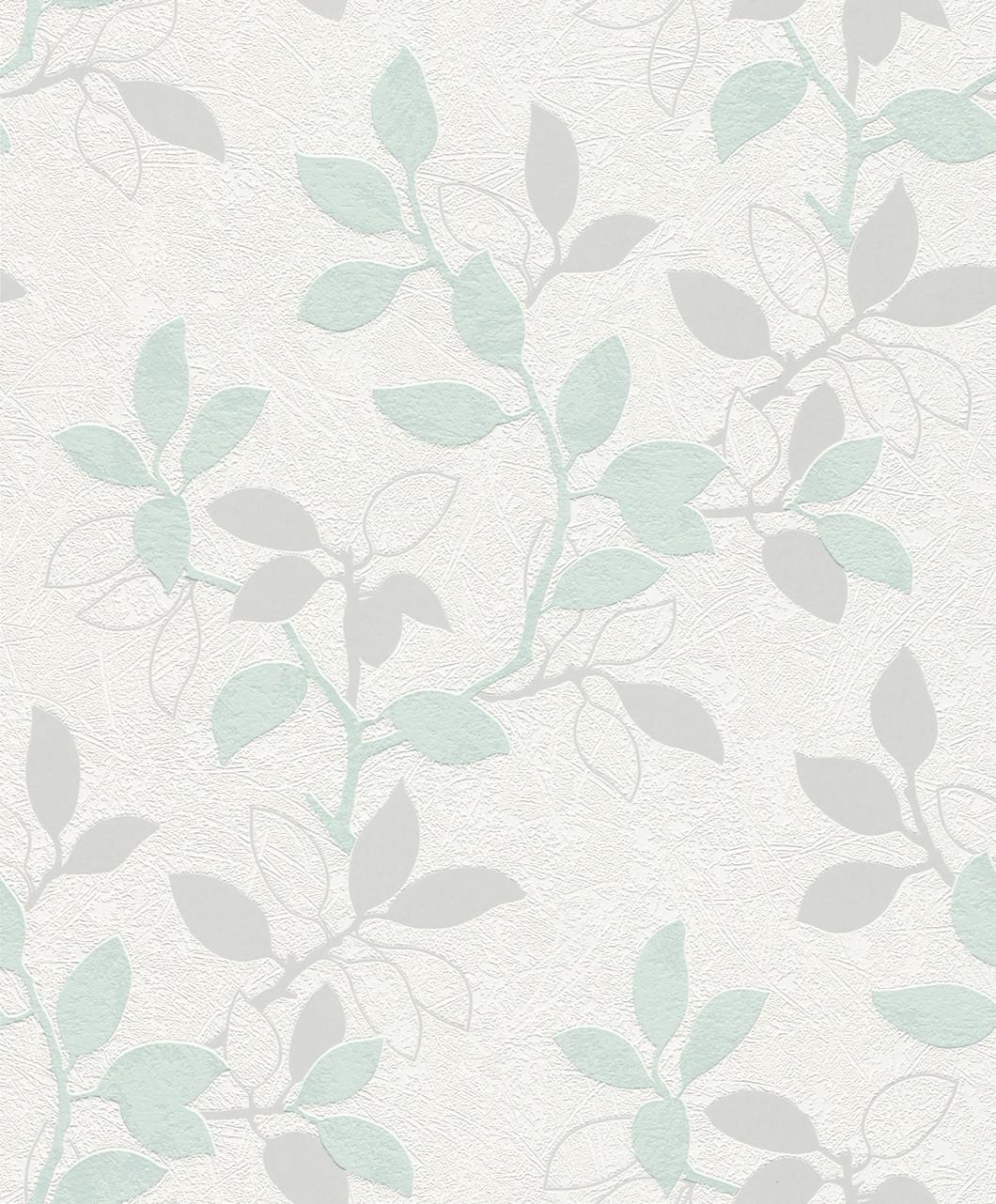 vliestapete wei gr n silber bl tter rasch home vision 4 spring time tapete 431414. Black Bedroom Furniture Sets. Home Design Ideas