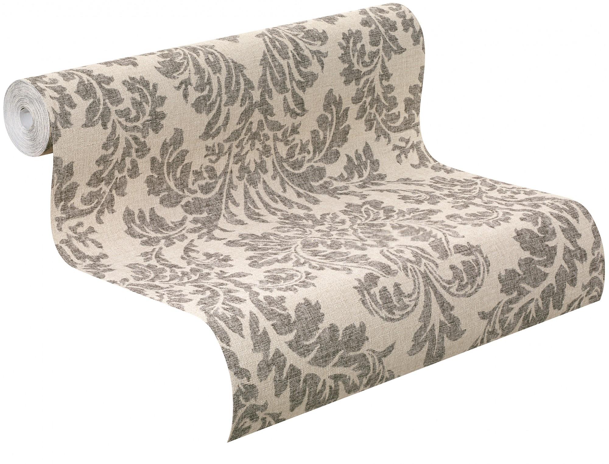 rasch tapete vlies florentine ornamente beige schwarz. Black Bedroom Furniture Sets. Home Design Ideas