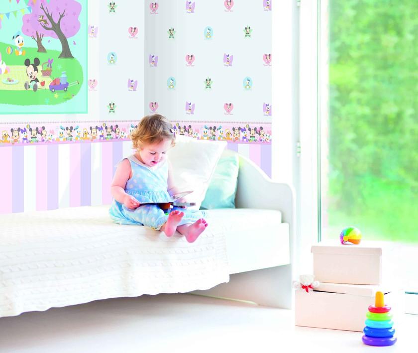 Kindertapete gestreift lila wei rasch textil 3008 4 - Kinderzimmer gestreift ...