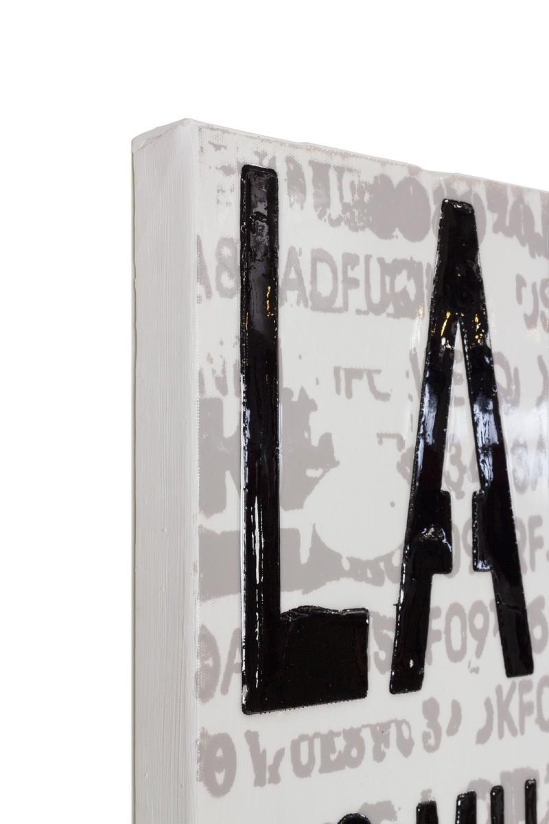 wandbild lgem lde modern handgefertigt 40 x 100 schrift. Black Bedroom Furniture Sets. Home Design Ideas