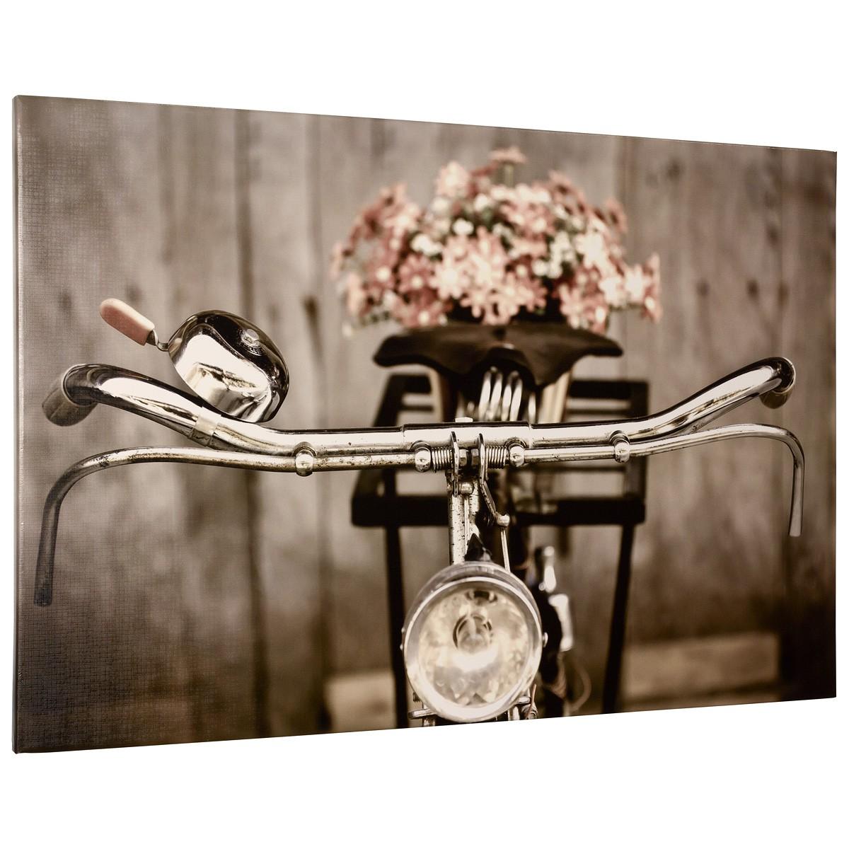 Wandbild keilrahmen kunstdruck bild 60x90 cm fahrrad sepia - Wandbild altrosa ...