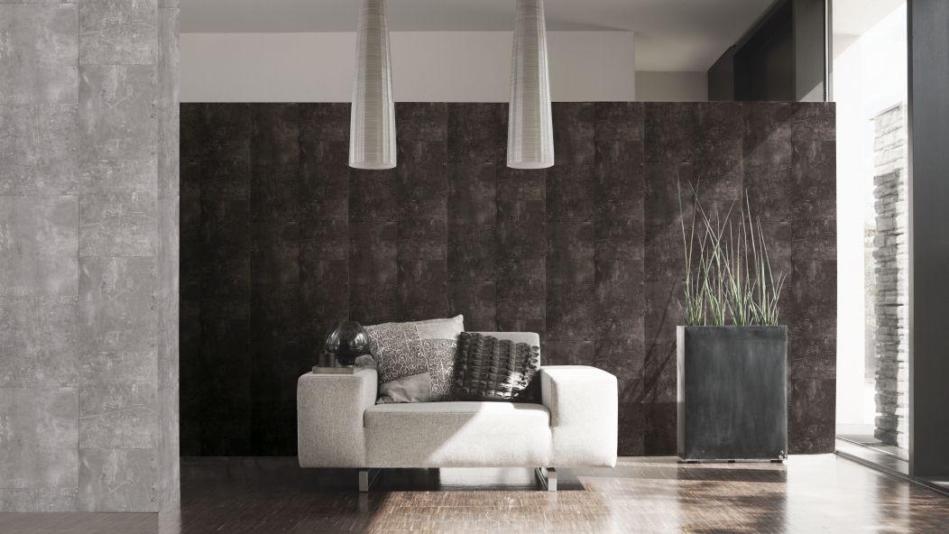 Wohnzimmer Steinwand Optik: Steinwand Wohnzimmer Anthrazit, Haus  Raumgestaltung