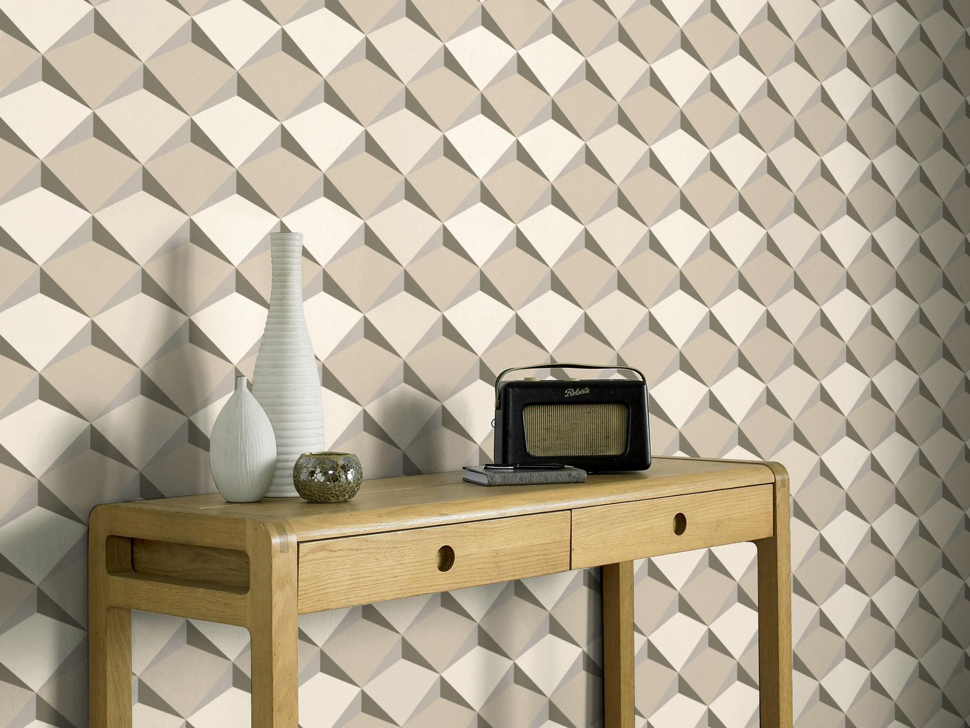 herrlich tapeten wohnzimmer modern grau programm - Tapete Grau Beige