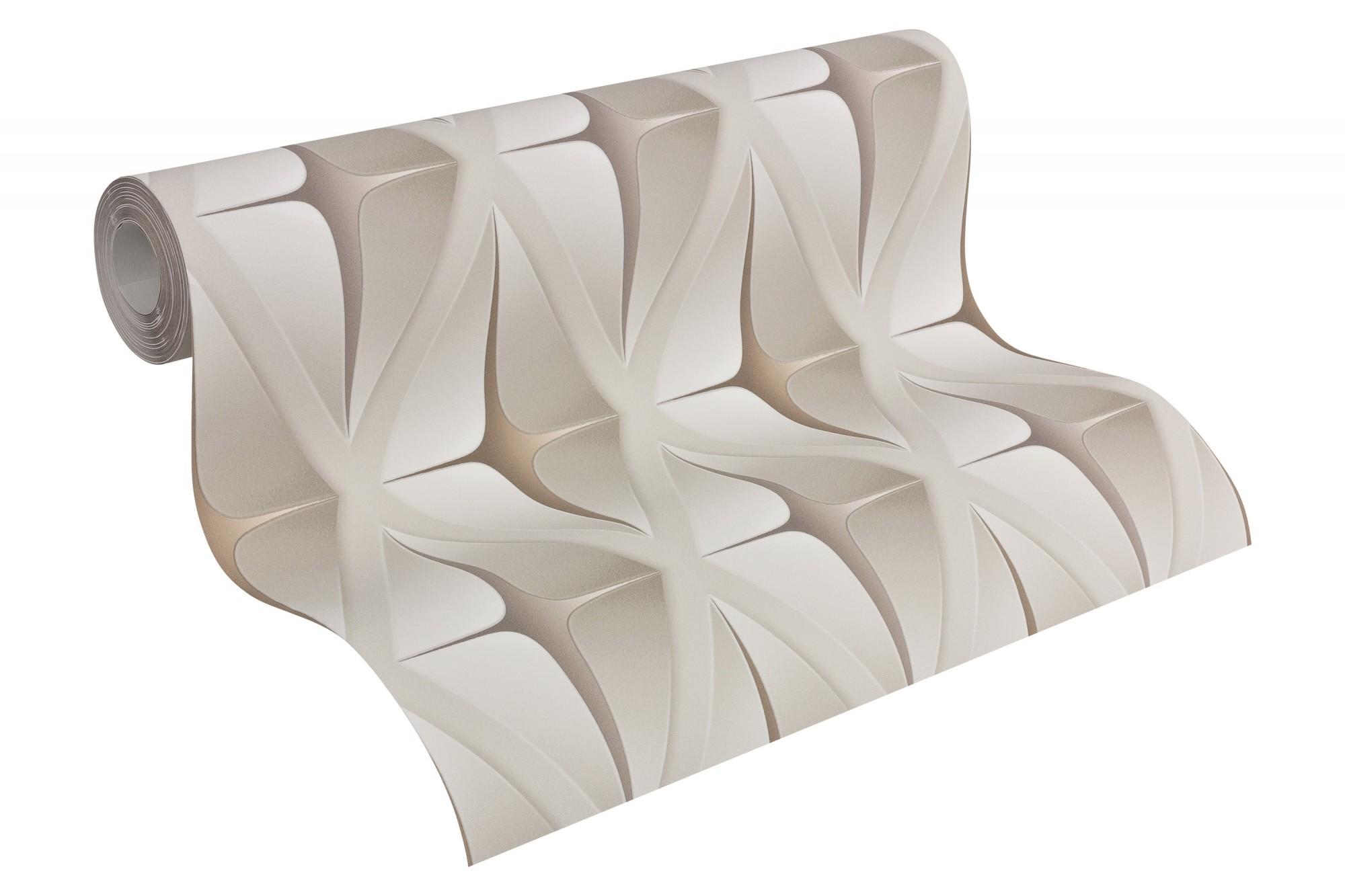 Details about Tapete Vlies Grafik modern beige creme livingwalls Move ...