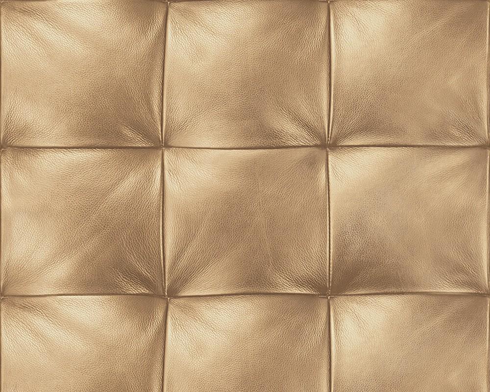 tapete vlies lederoptik gesteppt gold tapeten livingwalls